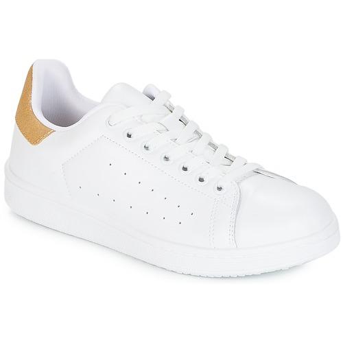 Obuća Žene  Niske tenisice Yurban SATURNA Bijela / Gold