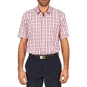 Odjeća Muškarci  Košulje kratkih rukava Pierre Cardin CH MC CARREAU GRAPHIQUE Bijela / Red