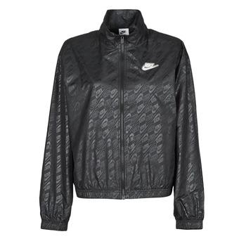 Odjeća Žene  Vjetrovke Nike W NSW WVN GX JKT FTRA Crna / Bijela