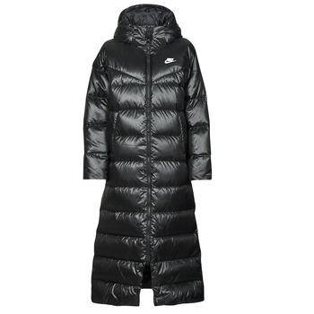 Odjeća Žene  Pernate jakne Nike W NSW TF CITY HD PARKA Crna / Bijela