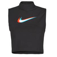 Odjeća Žene  Majice s naramenicama i majice bez rukava Nike W NSW TANK MOCK PRNT Crna