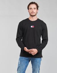 Odjeća Muškarci  Majice dugih rukava Tommy Jeans TJM LS TOMMY BADGE TEE Crna