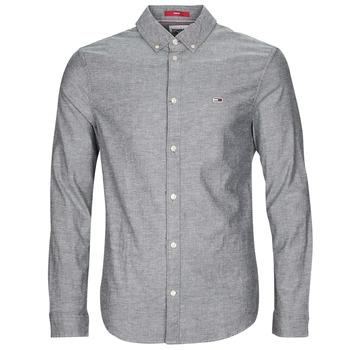 Odjeća Muškarci  Košulje dugih rukava Tommy Jeans TJM STRETCH OXFORD SHIRT Crna