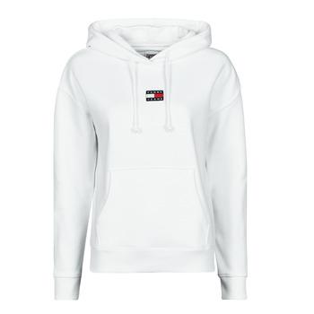Odjeća Žene  Sportske majice Tommy Jeans TJW TOMMY CENTER BADGE HOODIE Bijela