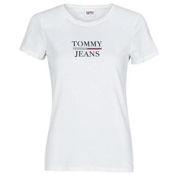 Odjeća Žene  Majice kratkih rukava Tommy Jeans TJW SKINNY ESSENTIAL TOMMY T SS Bijela