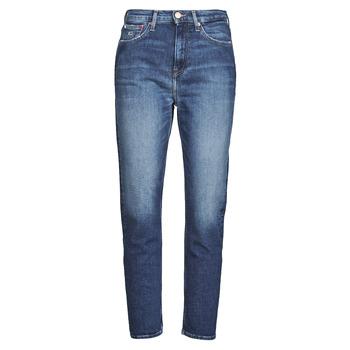 Odjeća Žene  Traperice ravnog kroja Tommy Jeans IZZIE HR SLIM ANKLE AE632 MBC Blue