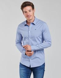 Odjeća Muškarci  Košulje dugih rukava Tommy Jeans TJM ORIGINAL STRETCH SHIRT Blue