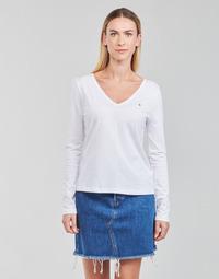 Odjeća Žene  Majice dugih rukava Tommy Hilfiger REGULAR CLASSIC V-NK TOP LS Bijela