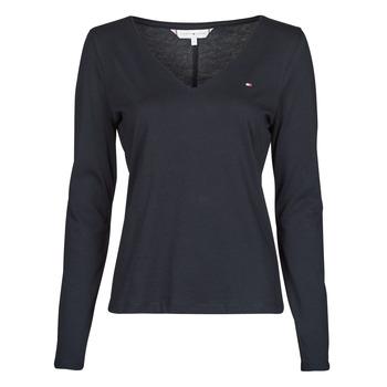 Odjeća Žene  Majice dugih rukava Tommy Hilfiger REGULAR CLASSIC V-NK TOP LS Blue