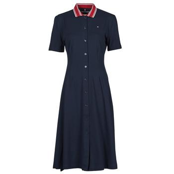 Odjeća Žene  Kratke haljine Tommy Hilfiger PIQUE F&F MIDI POLO DRESS SS Blue