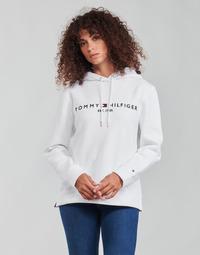 Odjeća Žene  Sportske majice Tommy Hilfiger HERITAGE HILFIGER HOODIE LS Bijela