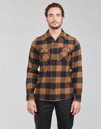 Odjeća Muškarci  Košulje dugih rukava Dickies NEW SACRAMENTO SHIRT Camel / Crna