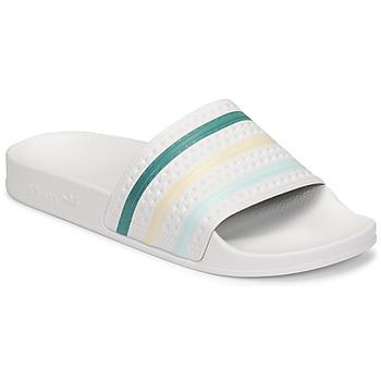 Obuća Žene  Sportske natikače adidas Originals ADILETTE Bijela / Zelena / Ružičasta