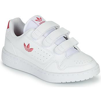 Obuća Djevojčica Niske tenisice adidas Originals NY 90  CF C Bijela / Ružičasta