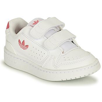 Obuća Djevojčica Niske tenisice adidas Originals NY 90 CF I Bijela / Ružičasta