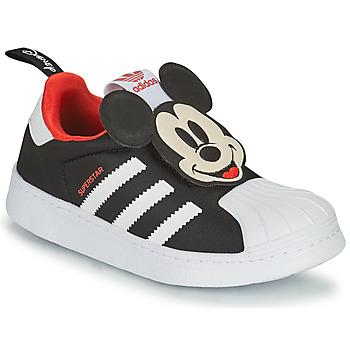 Obuća Dječak  Niske tenisice adidas Originals SUPERSTAR 360 C Crna / Mickey