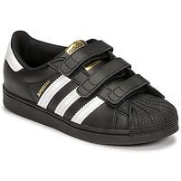 Obuća Djeca Niske tenisice adidas Originals SUPERSTAR CF C Crna / Bijela