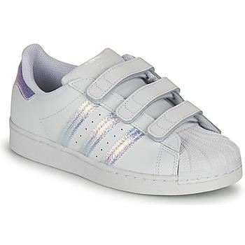 Obuća Djeca Niske tenisice adidas Originals SUPERSTAR CF C Bijela / Srebrna