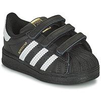 Obuća Djeca Niske tenisice adidas Originals SUPERSTAR CF I Crna / Bijela