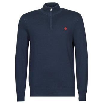 Odjeća Muškarci  Puloveri Timberland LS WILLIAMS RIVER 1/4 ZIP Blue