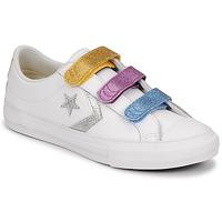 Obuća Djevojčica Niske tenisice Converse STAR PLAYER 3V GLITTER TEXTILE OX Bijela / Multicolour