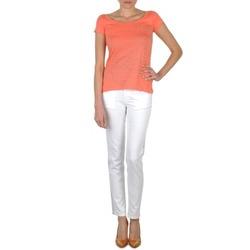 Odjeća Žene  Slim traperice Calvin Klein Jeans JEAN BLANC BORDURE ARGENTEE Bijela