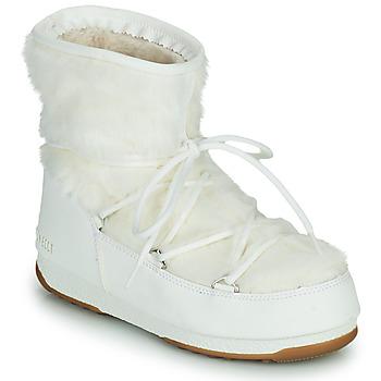 Obuća Žene  Čizme za snijeg Moon Boot MOON BOOT MONACO LOW FUR WP 2 Bijela