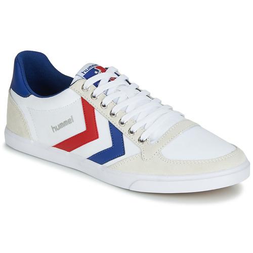 Obuća Niske tenisice Hummel TEN STAR LOW CANVAS Bijela / Red / Blue