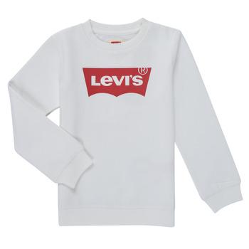 Odjeća Dječak  Sportske majice Levi's BATWING CREWNECK SWEATSHIRT Bijela
