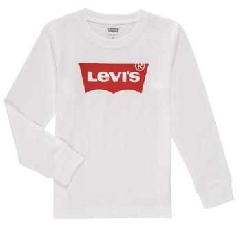Odjeća Dječak  Majice dugih rukava Levi's L/S BATWING TEE Bijela