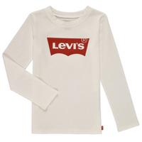 Odjeća Djevojčica Majice dugih rukava Levi's LS BATWING TEE Bijela