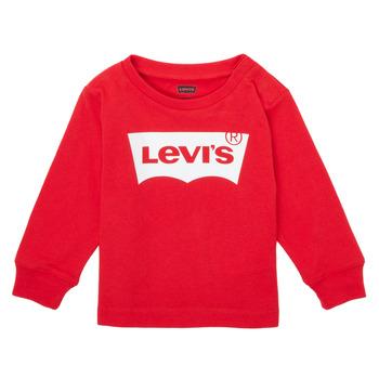 Odjeća Dječak  Majice dugih rukava Levi's L/S BATWING TEE Red
