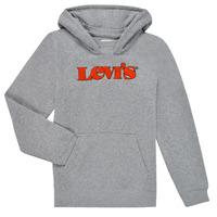 Odjeća Dječak  Sportske majice Levi's GRAPHIC PULLOVER HOODIE Siva