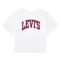 Odjeća Djevojčica Majice kratkih rukava Levi's SSRGLANHGHRISETESHIRT Bijela