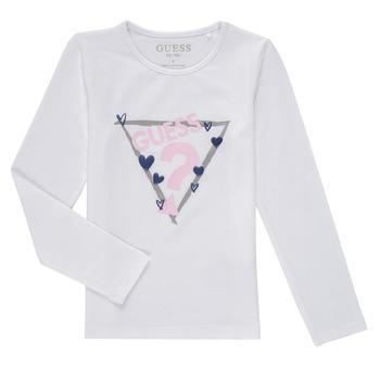 Odjeća Djevojčica Majice dugih rukava Guess MONICA Bijela