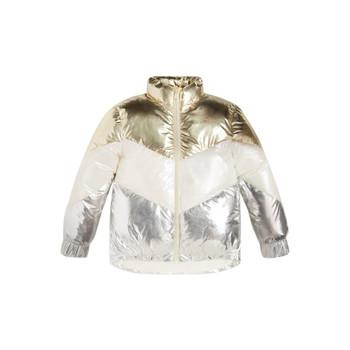 Odjeća Djevojčica Pernate jakne Guess FRILLY Bijela / Siva / Gold