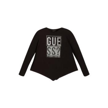 Odjeća Djevojčica Majice dugih rukava Guess UPSET Crna