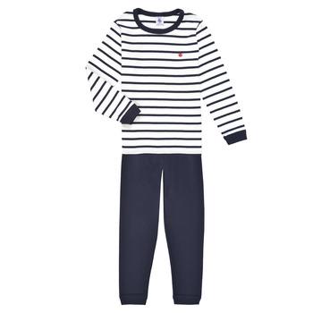 Odjeća Dječak  Pidžame i spavaćice Petit Bateau TECHI Bijela / Blue