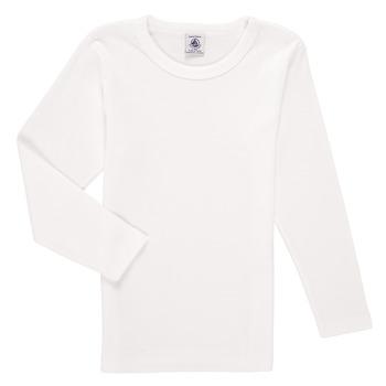 Odjeća Dječak  Majice dugih rukava Petit Bateau KELOMA Bijela