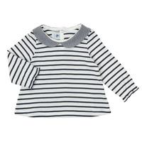 Odjeća Djevojčica Majice dugih rukava Petit Bateau HOLINU Bijela / Blue