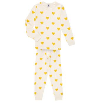 Odjeća Djevojčica Pidžame i spavaćice Petit Bateau LERINU Bijela / Žuta