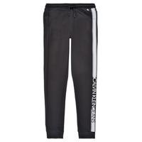Odjeća Dječak  Donji dio trenirke Calvin Klein Jeans RESPIRA Crna