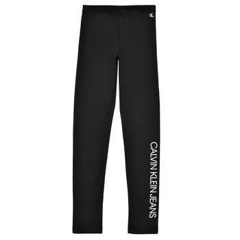 Odjeća Djevojčica Tajice Calvin Klein Jeans MERCA Crna