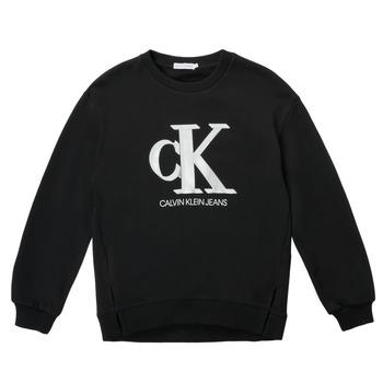 Odjeća Djevojčica Sportske majice Calvin Klein Jeans POLLI Crna