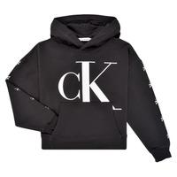 Odjeća Djevojčica Sportske majice Calvin Klein Jeans SALOMA Crna