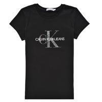 Odjeća Djevojčica Majice kratkih rukava Calvin Klein Jeans VOYAT Crna
