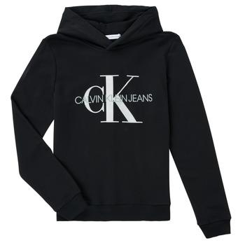Odjeća Djeca Sportske majice Calvin Klein Jeans TRINIDA Crna