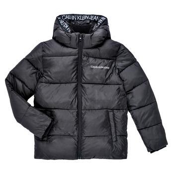 Odjeća Dječak  Pernate jakne Calvin Klein Jeans LITHERA Crna