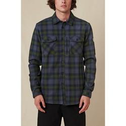 Odjeća Muškarci  Košulje dugih rukava Globe Chemise  Wanderer Shacket bleu/vert