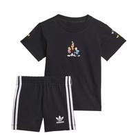 Odjeća Dječak  Dječji kompleti adidas Originals COTES Crna